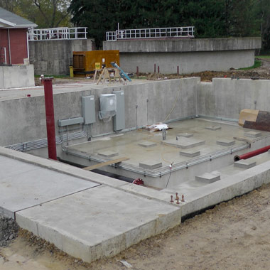 Sebring WTP GAC treatment building foundation